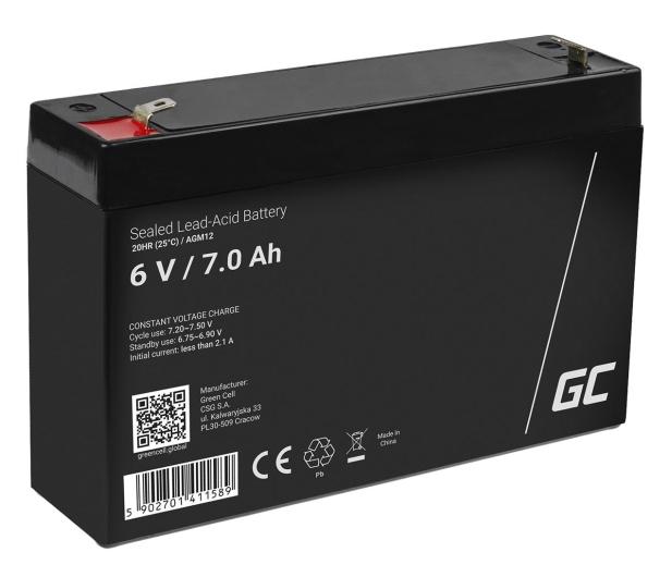 Green Cell Akumulator AGM  6V 7Ah - 547925 - zdjęcie
