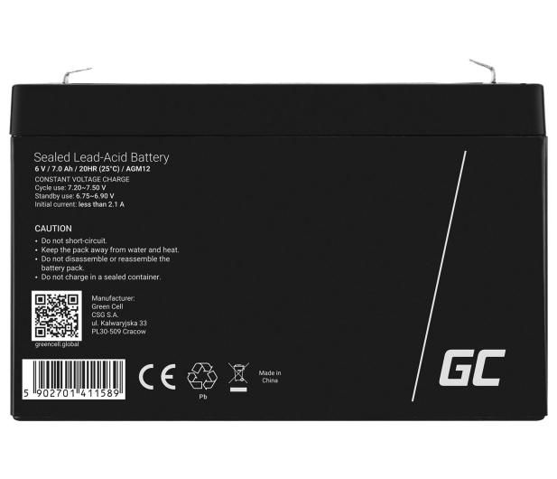 Green Cell Akumulator AGM  6V 7Ah - 547925 - zdjęcie 2