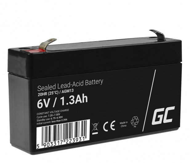 Green Cell Akumulator AGM VRLA  6V 1.3Ah - 547926 - zdjęcie