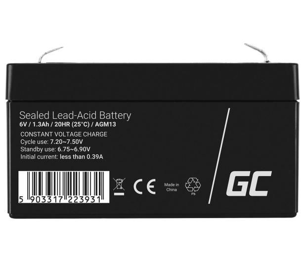 Green Cell Akumulator AGM VRLA  6V 1.3Ah - 547926 - zdjęcie 2