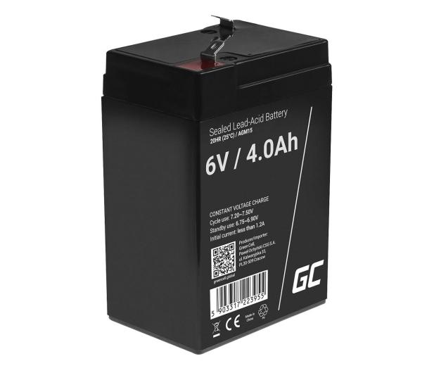 Green Cell Akumulator AGM VRLA  6V 4Ah - 547928 - zdjęcie