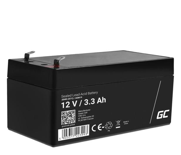 Green Cell Akumulator AGM VRLA  12V 3.3Ah - 547934 - zdjęcie