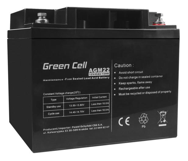 Green Cell Akumulator AGM VRLA  12V 40Ah - 547937 - zdjęcie