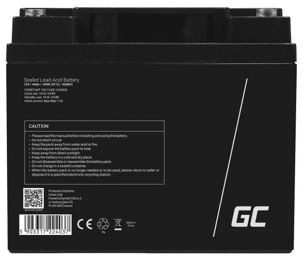 Green Cell Akumulator AGM VRLA  12V 44Ah - 547938 - zdjęcie 2