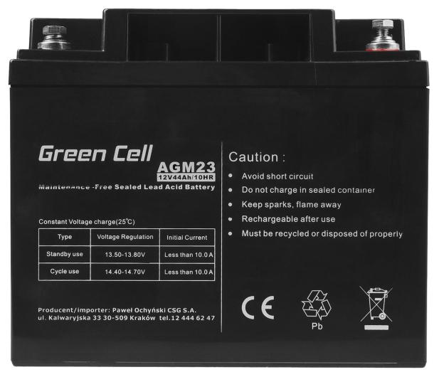 Green Cell Akumulator AGM VRLA  12V 44Ah - 547938 - zdjęcie 5