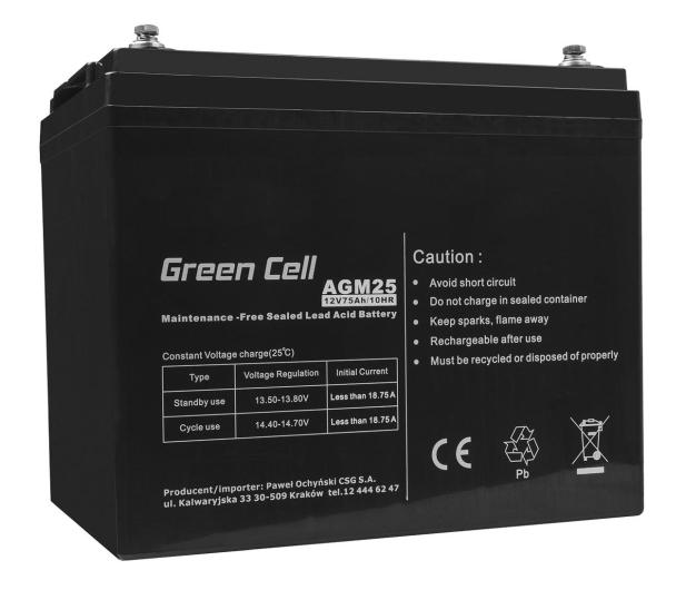 Green Cell Akumulator AGM VRLA  12V 75Ah - 547940 - zdjęcie