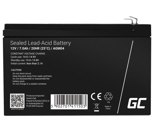 Green Cell Akumulator AGM  12V 7Ah - 547916 - zdjęcie 2