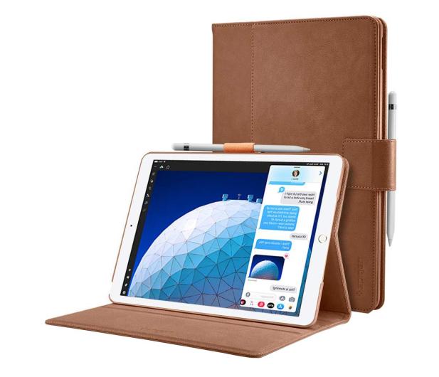 Spigen Stand Folio do iPad Air 3 generacji brązowy - 576347 - zdjęcie