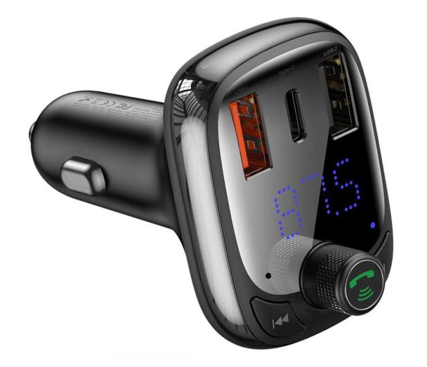 Baseus Transmiter FM (Bluetooth 5.0, Quick Charge 4.0) - 580222 - zdjęcie