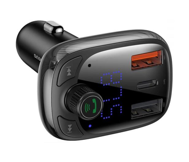 Baseus Transmiter FM (Bluetooth 5.0, Quick Charge 4.0) - 580222 - zdjęcie 3