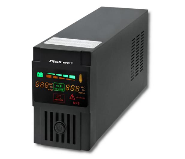 Qoltec Monolith (800VA/480W, FR, Schuko, LCD) - 387644 - zdjęcie