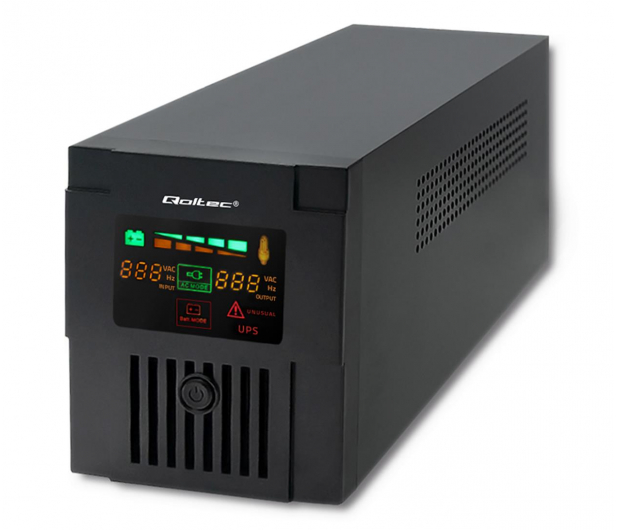 Qoltec Monolith (1200VA/720W, 2xFR, AVR, USB, LCD) - 387652 - zdjęcie