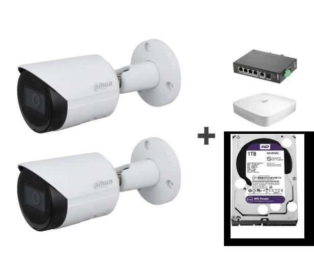 Dahua Zestaw do monitoringu (2x 2MP, NVR, 1TB, switch) - 581438 - zdjęcie