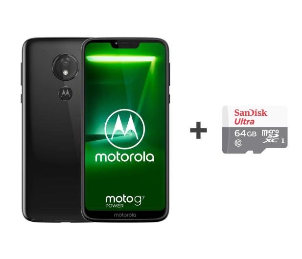 Motorola Moto G7 Power 4/64GB Dual SIM czarny + etui + 64GB - 483114 - zdjęcie