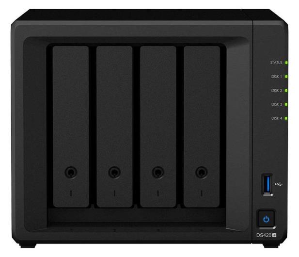 Synology DS420+ (4xHDD, 2x2-2.9GHz, 2GB, 2xUSB, 2xLAN) - 576359 - zdjęcie 2