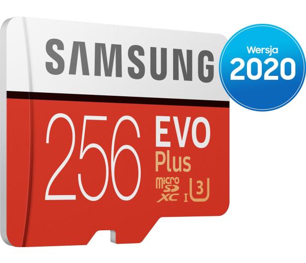 Samsung 256GB microSDXC Evo Plus zapis90MB/s odczyt100MB/s - 577328 - zdjęcie 2