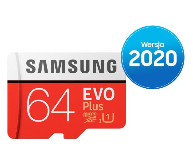 Samsung 64GB microSDXC Evo Plus zapis20MB/s odczyt100MB/s - 577324 - zdjęcie