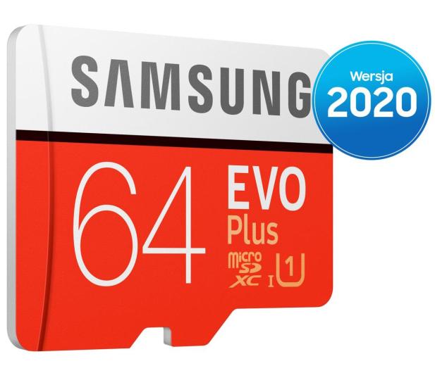 Samsung 64GB microSDXC Evo Plus zapis20MB/s odczyt100MB/s - 577324 - zdjęcie 2