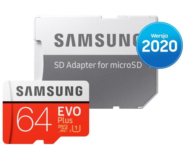 Samsung 64GB microSDXC Evo Plus zapis20MB/s odczyt100MB/s - 577324 - zdjęcie 4