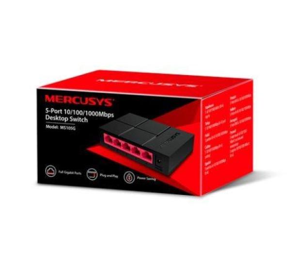 Mercusys 5p MS105G (5x10/100/1000Mbit)  - 578799 - zdjęcie 4