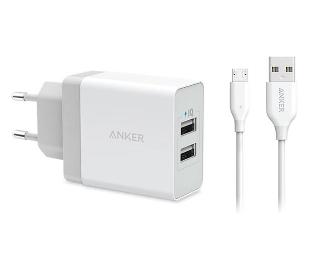 Anker Ładowarka sieciowa 2xUSB 24W + kabel microUSB - 583678 - zdjęcie