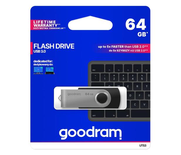 GOODRAM 64GB UTS3 zapis 20MB/s odczyt 60MB/s USB 3.0  - 308144 - zdjęcie 3