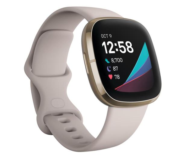 Fitbit Sense złoto beżowy + Fitbit Premium - 587726 - zdjęcie