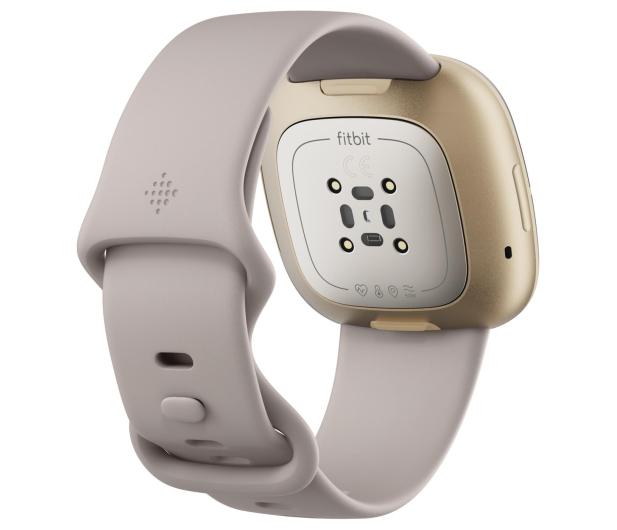 Fitbit Sense złoto beżowy + Fitbit Premium - 587726 - zdjęcie 4