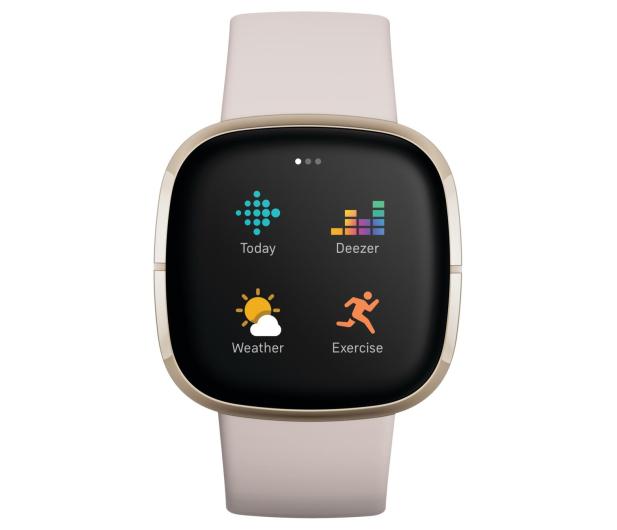 Fitbit Sense złoto beżowy + Fitbit Premium - 587726 - zdjęcie 6