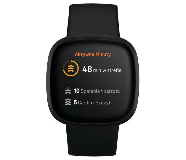 Fitbit Versa 3 czarna + Fitbit Premium - 587718 - zdjęcie 2