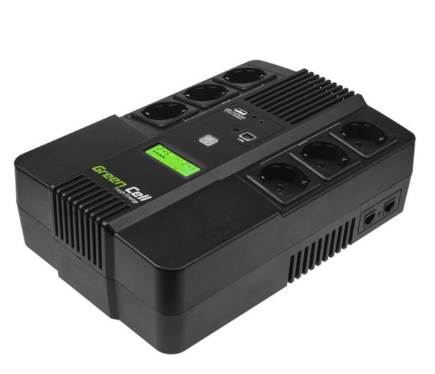 Green Cell UPS AiO (800VA/480W, 6x Schuko, AVR, LCD) - 546081 - zdjęcie