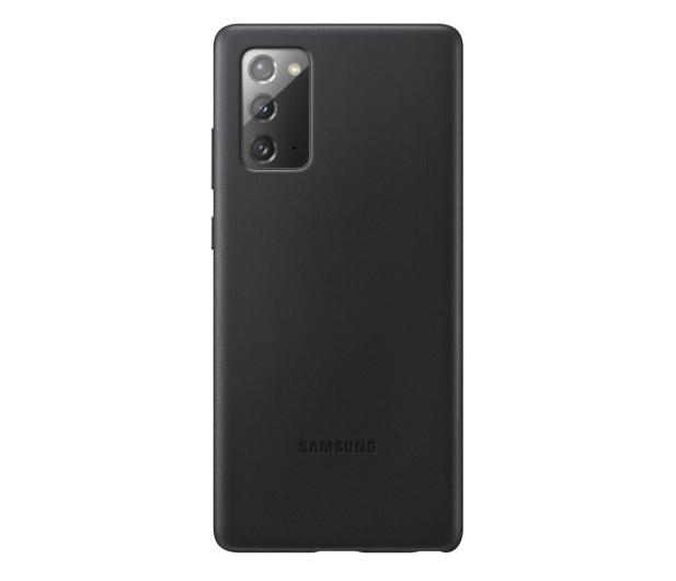 Samsung Leather Cover do Galaxy Note 20 Black  - 582459 - zdjęcie