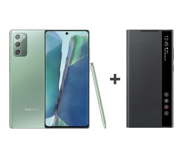 Samsung Galaxy Note 20 8/256 Zielony + Clear View Cover - 582841 - zdjęcie