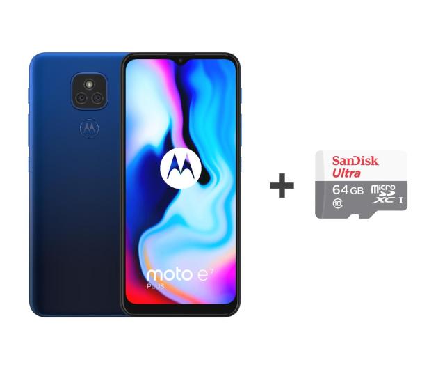 Motorola Moto E7 Plus 4/64GB Misty Blue + 64GB - 590429 - zdjęcie