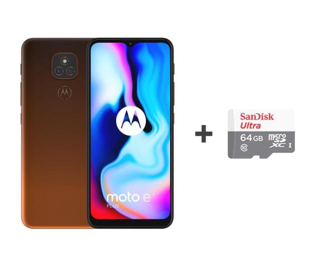 Motorola Moto E7 Plus 4/64GB Twilight Orange + 64GB - 591862 - zdjęcie