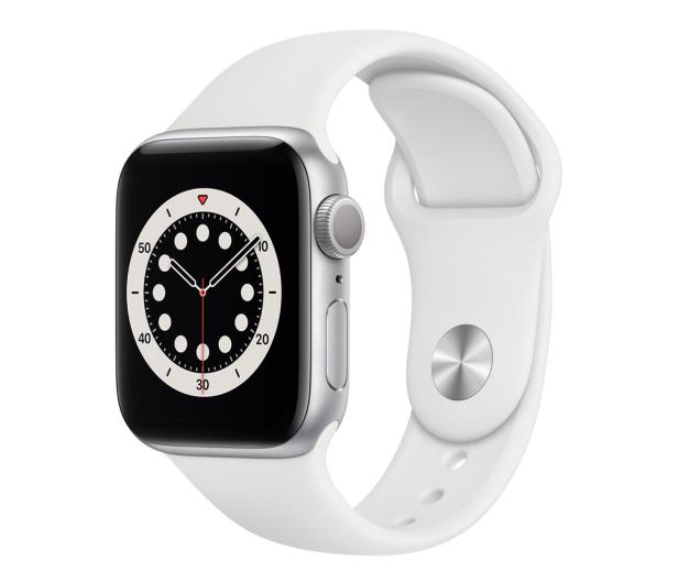 Apple Watch 6 40/Silver Aluminium/White Sport GPS - 592195 - zdjęcie