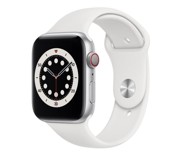 Apple Watch 6 44/Silver Aluminium/White Sport LTE - 592208 - zdjęcie