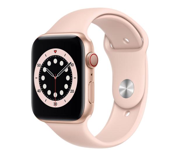 Apple Watch 6 44/Gold Aluminium/Pink Sport LTE - 592200 - zdjęcie