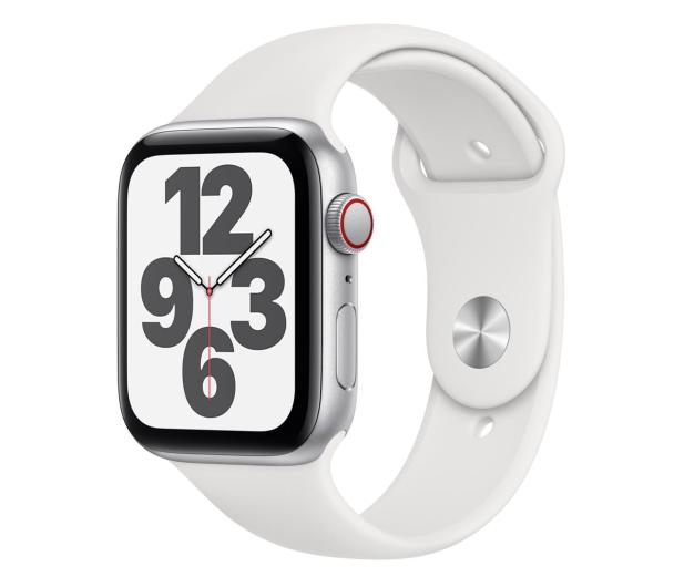 Apple Watch SE 44/Silver Aluminium/White Sport LTE - 592330 - zdjęcie