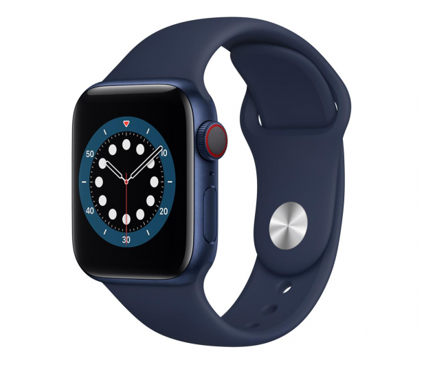 Apple Watch 6 40/Blue Aluminium/Deep Navy Sport LTE - 592202 - zdjęcie