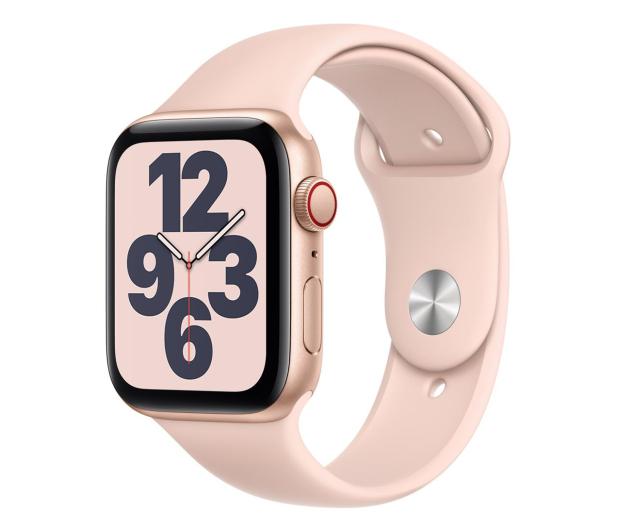 Apple Watch SE 44/Gold Aluminium/Pink Sport LTE - 592328 - zdjęcie