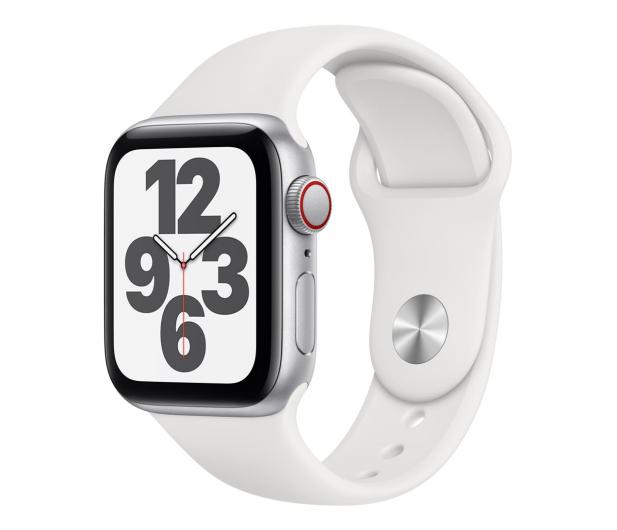 Apple Watch SE 40/Silver Aluminium/White Sport LTE - 592329 - zdjęcie