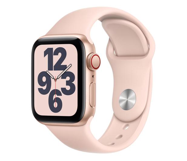 Apple Watch SE 40/Gold Aluminium/Pink Sport LTE - 592327 - zdjęcie