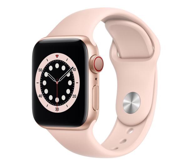 Apple Watch 6 40/Gold Aluminium/Pink Sport LTE - 592199 - zdjęcie