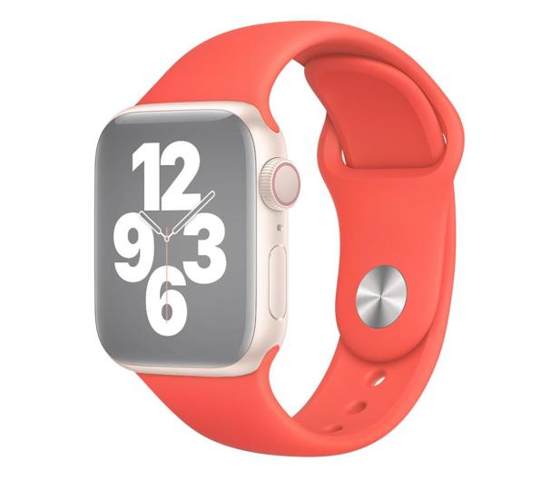 Apple Pasek Sportowy do Apple Watch różowy cytrus - 592377 - zdjęcie