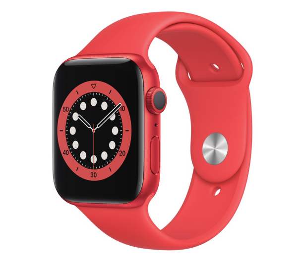 Apple Watch 6 44/(PRODUCT)RED Aluminum/RED Sport GPS - 592194 - zdjęcie