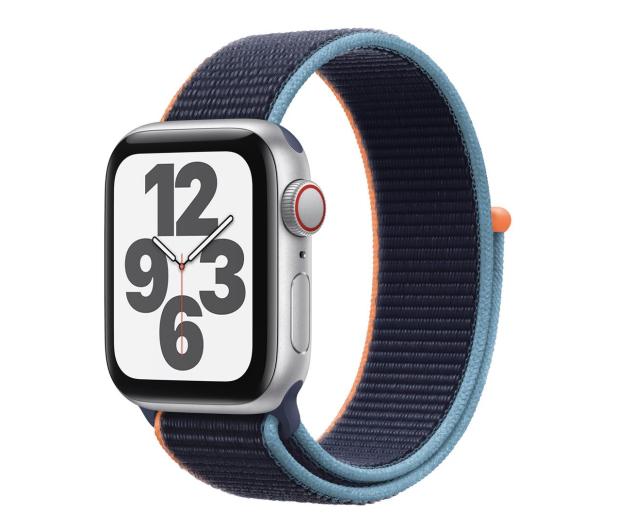 Apple Watch SE 40/Silver Aluminium/Navy Sport Loop LTE - 593159 - zdjęcie