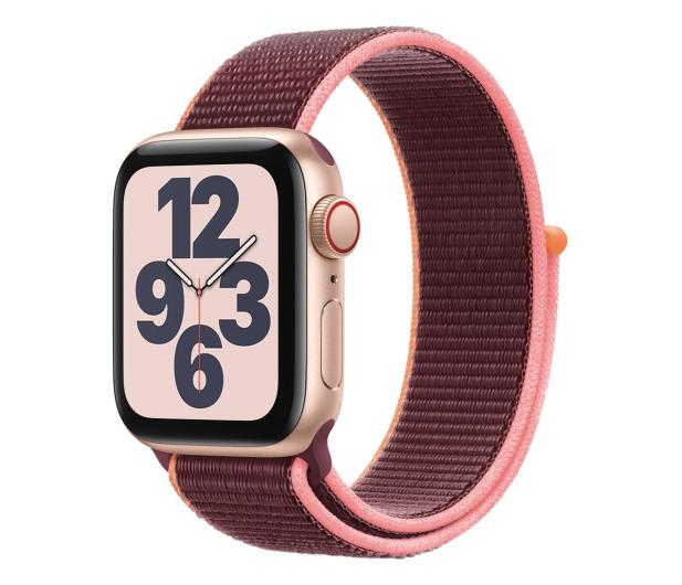 Apple Watch SE 40/Gold Aluminium/Plum Sport Loop LTE - 593160 - zdjęcie