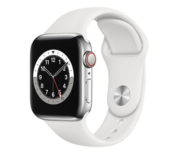 Apple Watch 6 40/Silver Steel/White Sport LTE - 593140 - zdjęcie