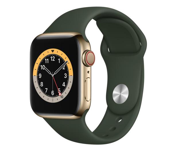 Apple Watch 6 40/Gold Steel/Cyprus Green Sport LTE - 593149 - zdjęcie